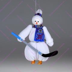 Ёлочная игрушка Гном-снеговик
