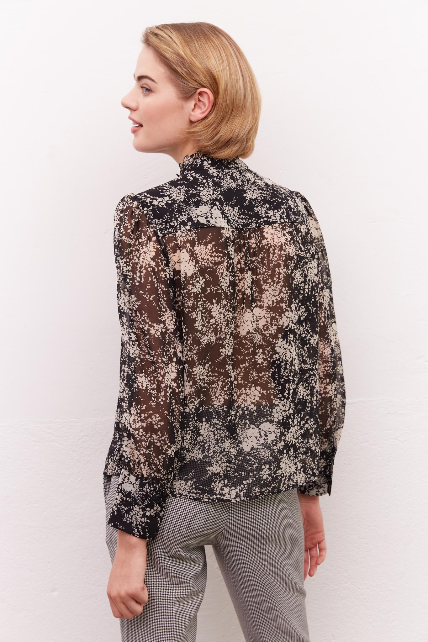 CHADE - Блуза с принтом и рюшами
