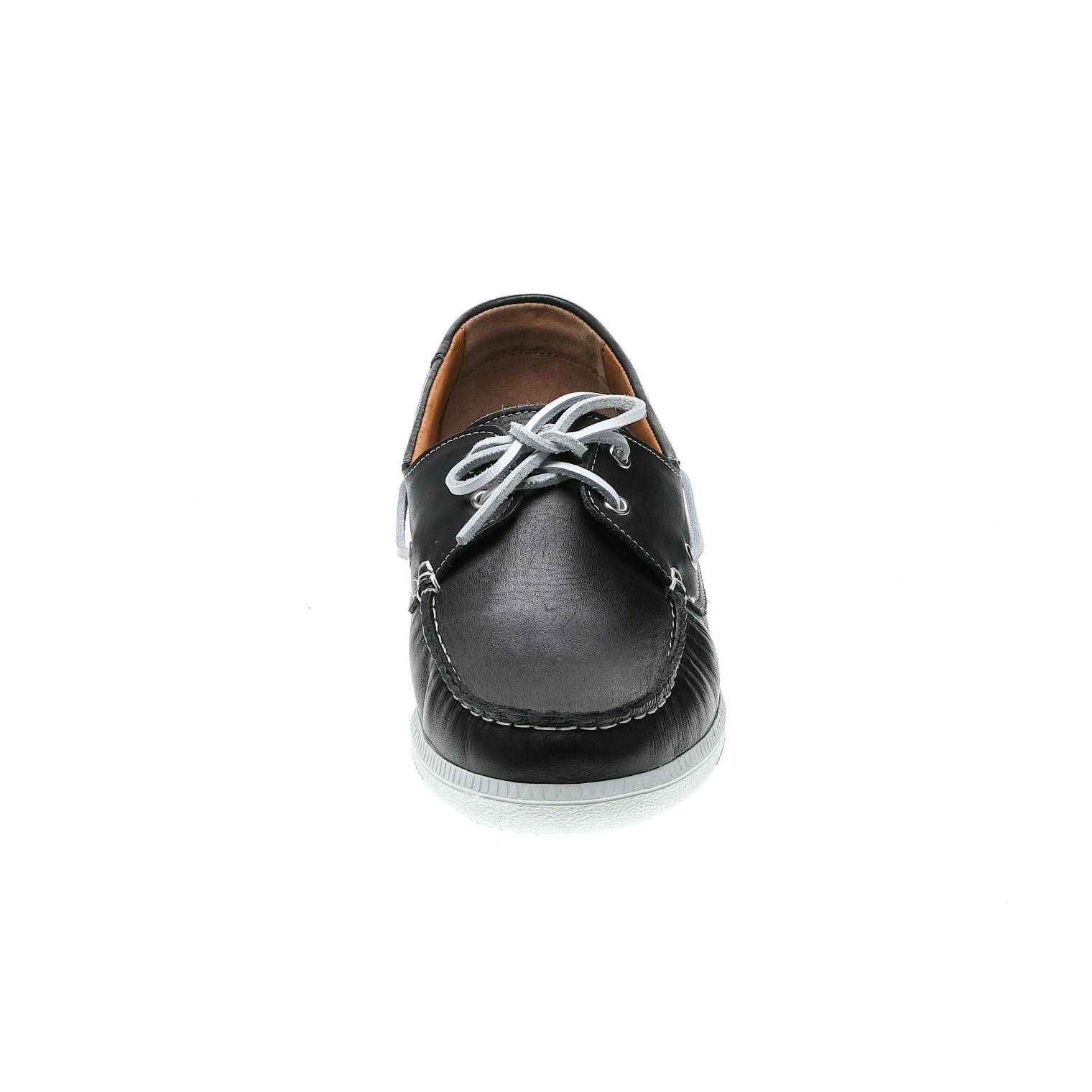 573296 полуботинки мужские черные больших размеров марки Делфино