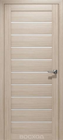 Дверь Восход Альфа, стекло сатин, цвет лиственница амурская, остекленная