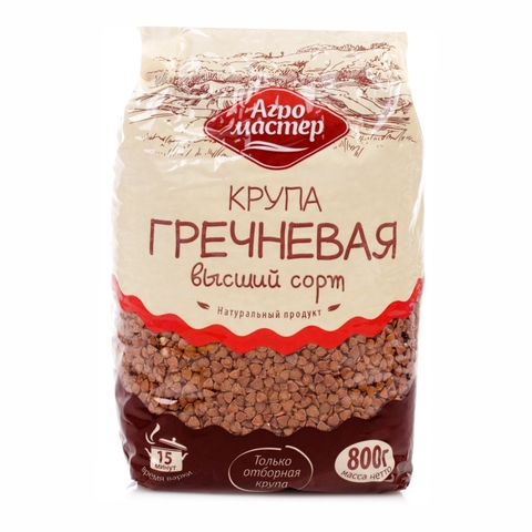 Гречневая крупа АГРОМАСТЕР 800 гр м/у РОССИЯ