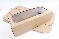 Коробка-трансформер с окном МГК белый 13х33 h=9 см.
