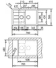 Мойка кухонная TEKA Astral 60B-TG - схема