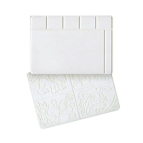 Доска для лепки А4 с раздельными ячейками для пластилина