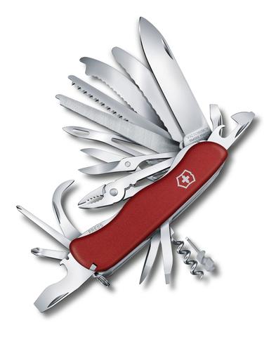 Нож Victorinox WorkChamp XL, 111 мм, 31 функция, с фиксатором лезвия, красный123