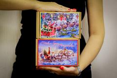 Новогодний подарочный набор с крем-медом в крафт-коробке