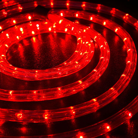 Дюралайт из десяти метров готового куска красного цвета led 10m
