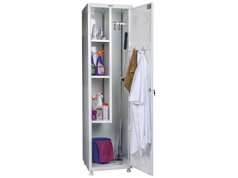 Шкаф для уборочного инвентаря МД 1 ШМ-SS (11-50) - фото