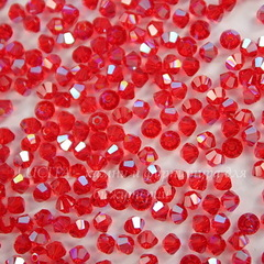 5328 Бусина - биконус Сваровски Light Siam Shimmer 3 мм, 10 штук