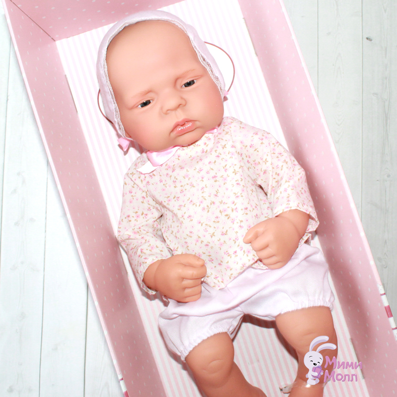 Испанская кукла реборн ASI Лючия в чепчике (42 см)