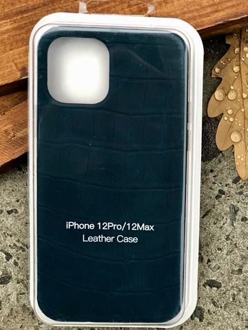 Чехол iPhone 12 /5,4''/ Leather crocodile case /green/