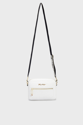 Женская белая сумка ICONIC TOMMY CAMERA BAG MONOGRAM Tommy Hilfiger