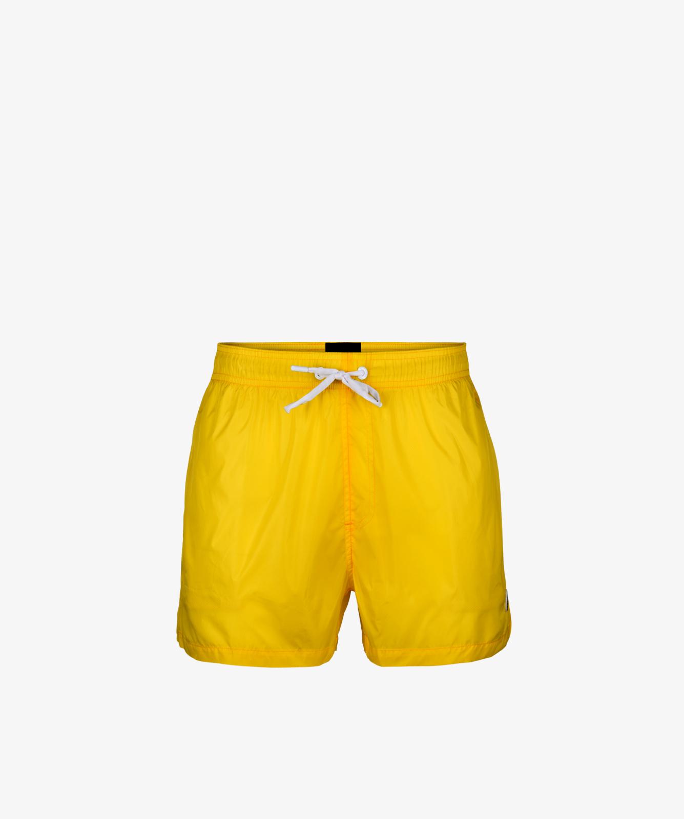 Пляжные шорты мужские Atlantic, 1 шт. в уп., полиэстер, желтые, KMB-188