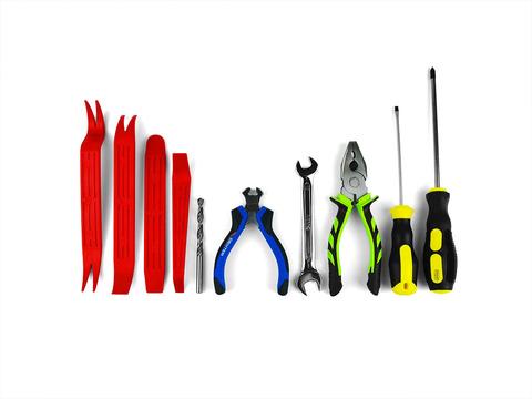 Набор инструментов для установки ремкомплекта ограничителей дверей ТИП 10