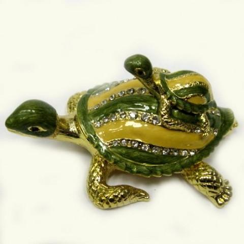 Шкатулка Черепаха с черепашонком