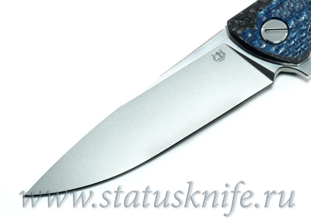 Нож Широгоров F3 S90V Blue CF Кастом Дивижн - фотография
