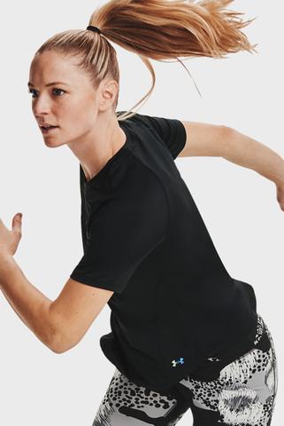 Женская черная футболка UA Rush SS-BLK Under Armour
