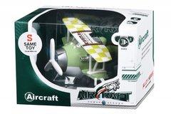 Самолет металический инерционный Same Toy Aircraft зеленый со светом и музыкой SY8015Ut-2