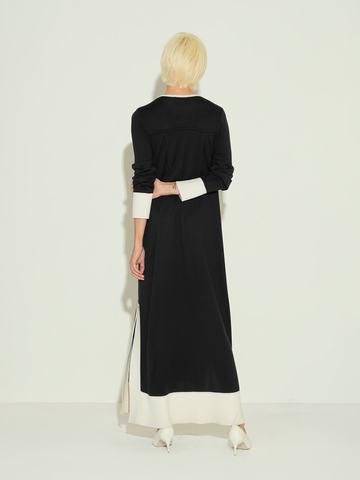 Женское платье черного цвета из шелка и кашемира - фото 3