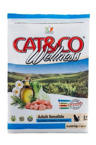 Корм для кошек Adragna Cat&Co Wellness Adult Sensible Fish and Rice (10 кг)