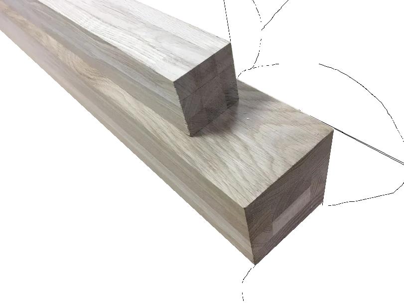 Мебельный брус - дуб цельноламельный 60 мм х 60 мм х 900 мм