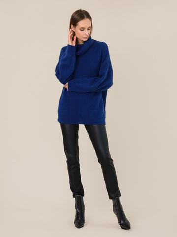 Женский свитер синего цвета из ангоры - фото 5