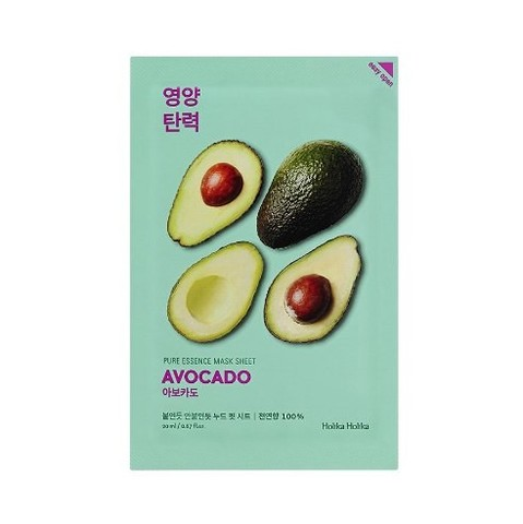Holika Holika Pure Essence Mask Sheet Avocado тканевая маска для лица Авокадо, 20 мл