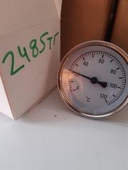 Термометр биметаллический осевой 0-120С