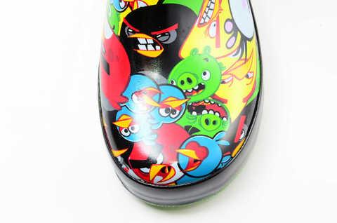 Резиновые сапоги для мальчиков утепленные Энгри Бердс (Angry Birds), цвет черный. Изображение 10 из 11.
