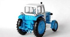Tractor UMZ-6A blue-white 1:43 Hachette #37
