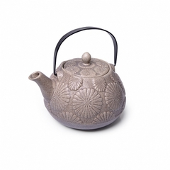 9393 FISSMAN Чайник заварочный 1100мл с ситечком, цвет Серый песочный (керамика)