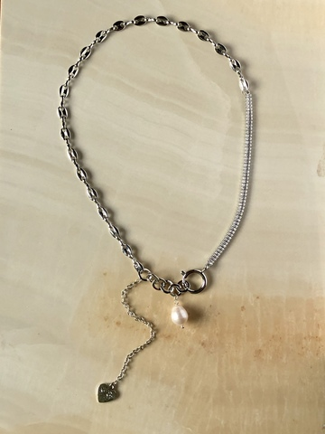 Колье Тресера, серебряный цвет