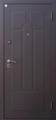 Дверь входная Опал 2 стальная, венге, 2 замка, фабрика Алмаз
