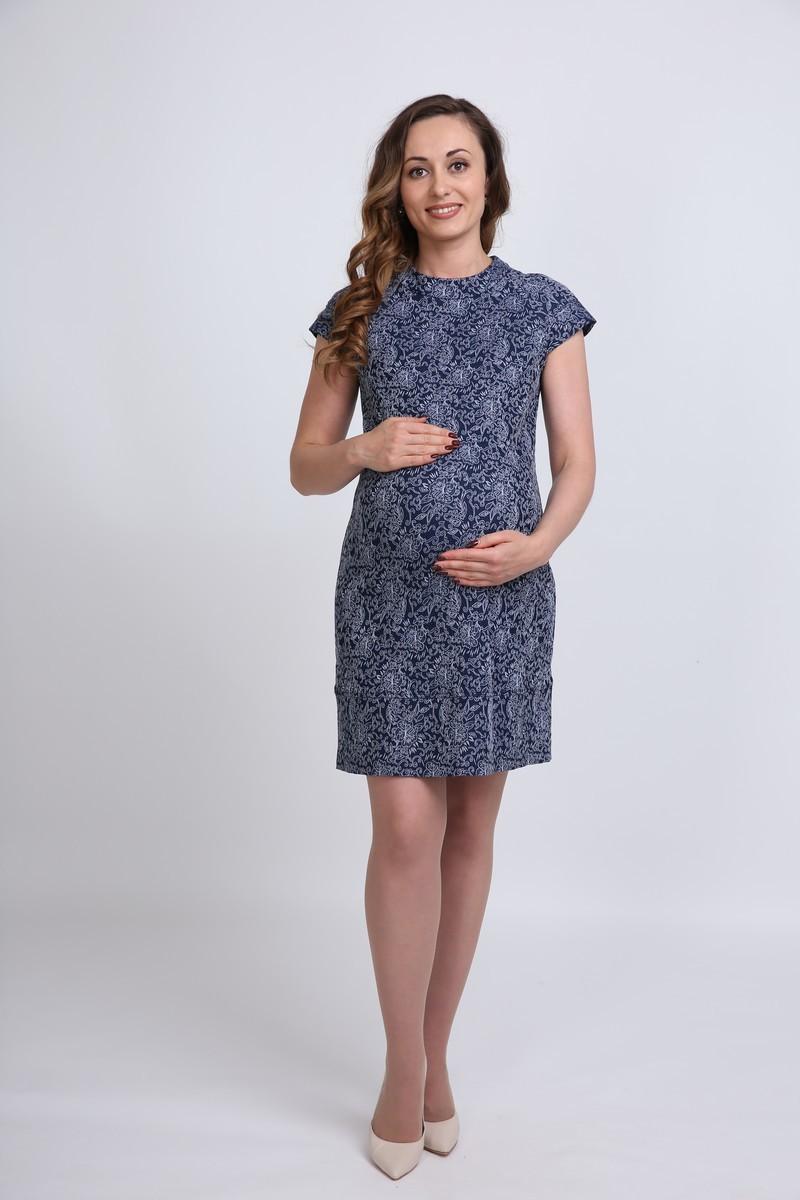 Платье для беременных 06119 синий