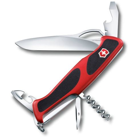 Нож перочинный Victorinox RangerGrip 61 (0.9553.MC) 130мм красный/черный
