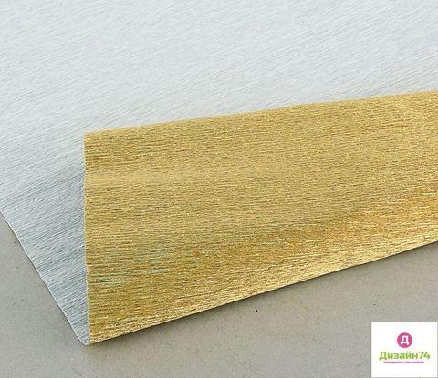 ГОФРИРОВАННАЯ БУМАГА ПР.ИТАЛИЯ 180 ГР №807 античное золото металл