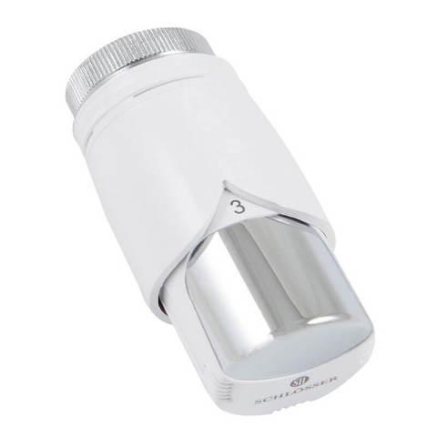 Термостатическая головка С Diamant Plus Белый-Хром