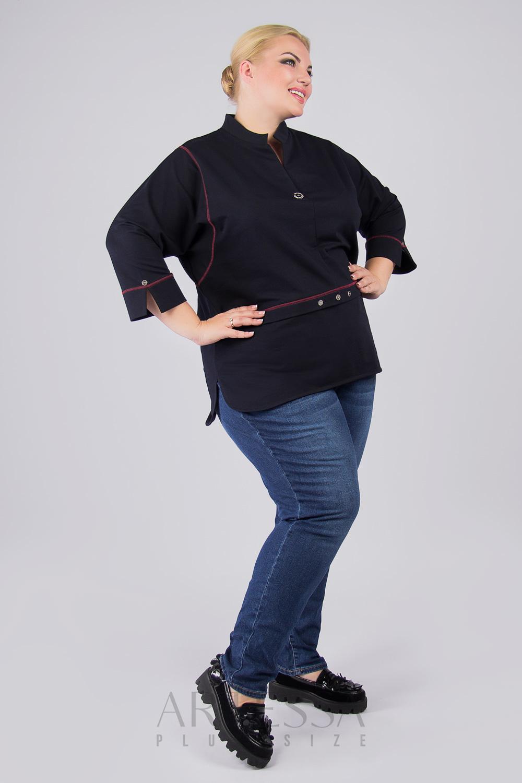 Блузки Блузка декорированная пуговицами BL08502DBL05S56 IMG_0175.9999x9999w.jpg