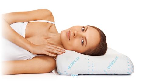 Подушка ортопедическая TRELAX Sola под голову с выемкой под плечо арт.П30