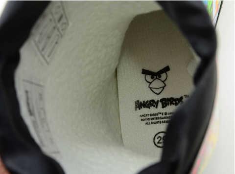Резиновые сапоги для мальчиков утепленные Энгри Бердс (Angry Birds), цвет черный. Изображение 11 из 11.