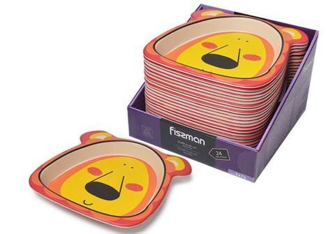 """9470 FISSMAN Тарелка детская 21x21 см """"Львенок"""", бамбуковое волокно,  купить"""