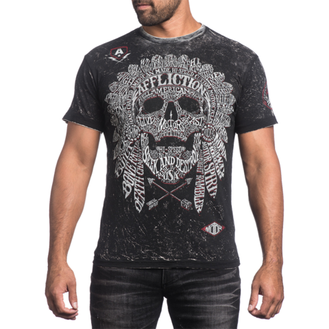 Двухсторонняя футболка Affliction Native Tongue