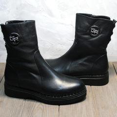 Полусапожки зима женские G.U.E.R.O G019 8556 Black.