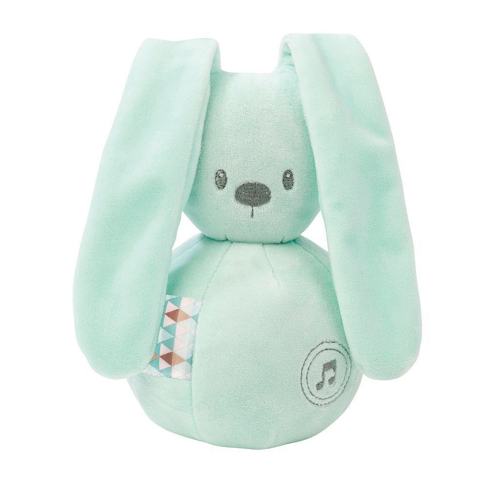 Игрушка мягкая Nattou Musical Soft toy (Наттоу Мьюзикал Софт Той) Lapidou Кролик mint музыкальная 878791