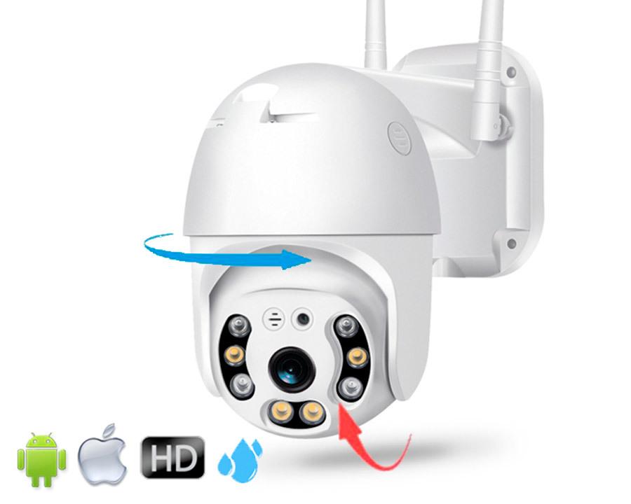 Видеонаблюдение Уличная Поворотная Wi-Fi Camera (купольная) главная.jpg