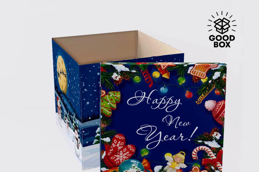 Огромная Новогодняя коробка купить в Алматы