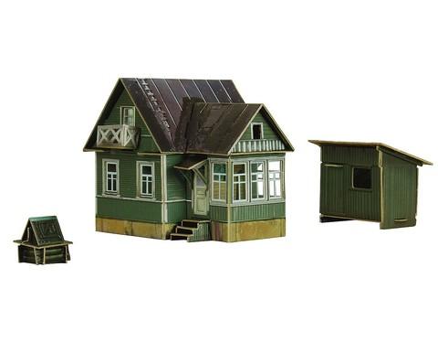 Летний домик (эпоха IV) 1966-1985 СССР. Сборная модель из картона
