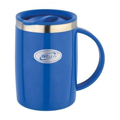 Кружка Biostal Flër (0,5 литра) с крышкой, синяя