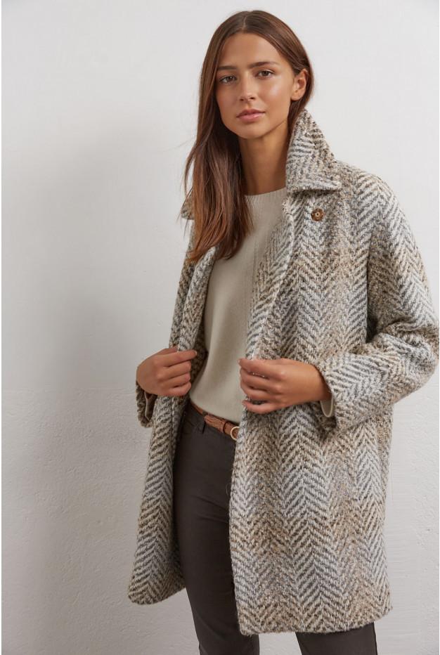Samantha -  Двубортное пальто из смесовой шерсти