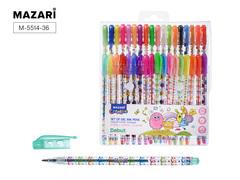 Mazari Debut набор гелевых ручек с блестками 0.8 мм - 36 цветов
